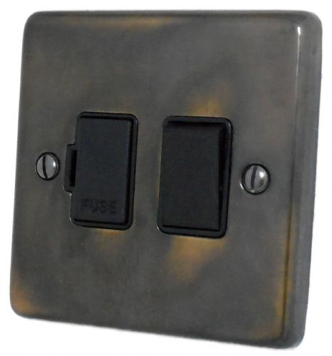 G&H CAN57B Standard Plate Polished Aged Brass 1 Gang Fused Spur 13A Switched